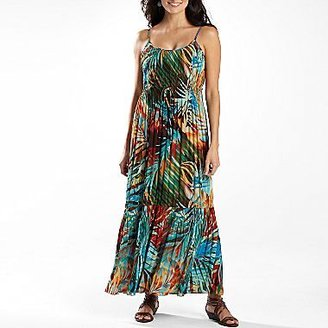 Robbie Bee Tropical Print Maxi Dress-Petite