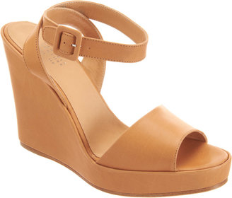 Barneys New York Alice Ankle-Wrap Wedge Sandals