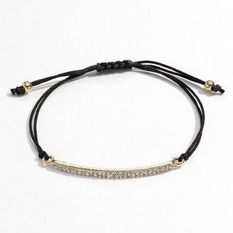 Lauren Conrad gold tone simulated crystal bar woven bracelet