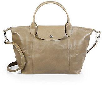 Longchamp Le Pliage Cuir Small Top-Handle Bag