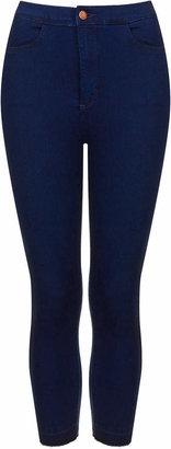 Topshop Moto hyper blue wash cropped joni jeans