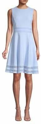 Calvin Klein Sleeveless Illusion Hem Fit-and-Flare Dress