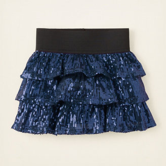 Children's Place Sequin shine tiered skirt