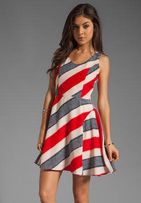 BB Dakota Gwynn Striped River Printed Dress