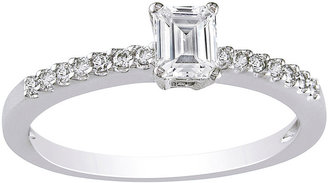 MODERN BRIDE 1/2 CT. T.W. Emerald-Cut Diamond Bridal Ring 14K White Gold