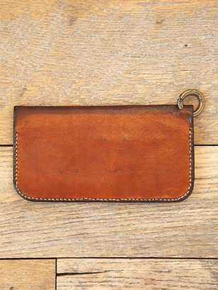 Free People Vintage Leather Duo Fold Wallet