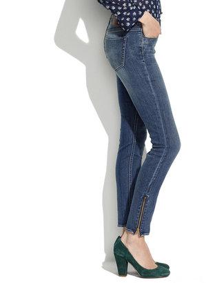 Madewell Skinny Skinny Ankle-Zip Jeans in Pool Wash