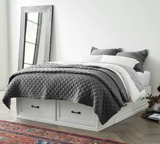 Pottery Barn Stratton Storage Platform Bed Frame with Drawers