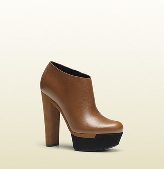 Gucci Alizee Cuir Leather Platform Bootie