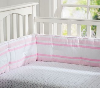 Pottery Barn Kids Tiny Trellis Chamois Crib Fitted Sheet
