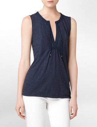 Calvin Klein Pintucked Jersey Top