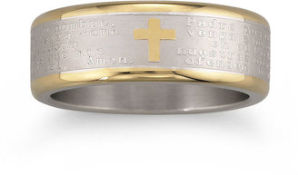 JCPenney FINE JEWELRY Spanish Lord's Prayer Band Stainless Steel