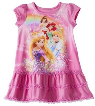 Princess Disney Toddler Girls' Short-Sleeve Nightgown