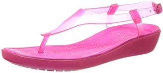 crocs Women's Really Sexi T-Strap Sandal $20.99 thestylecure.com