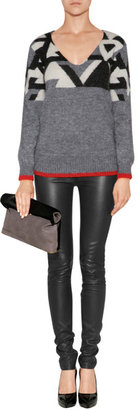 Matthew Williamson Abstract Knit Pullover in Grey