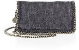 Stella McCartney Denim Fold-Over Convertible Clutch