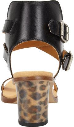 Maison Martin Margiela Leopard Hologram Heel Sandal