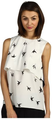 Tibi Paloma Sleeveless Top (Ivory Multi) - Apparel