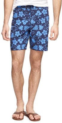 """Brooks Brothers 8"""" Hibiscus Print Board Shorts"""