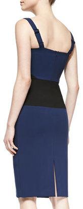 Black Halo Bronx Colorblocked Sheath Dress
