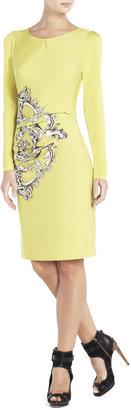 BCBGMAXAZRIA Nagdalina Side-Pleat Printed Dress