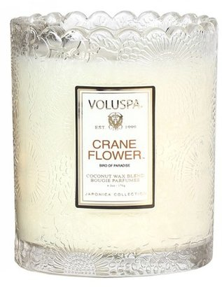 Voluspa 'Japonica - Crane Flower' Scalloped Edge Glass Candle