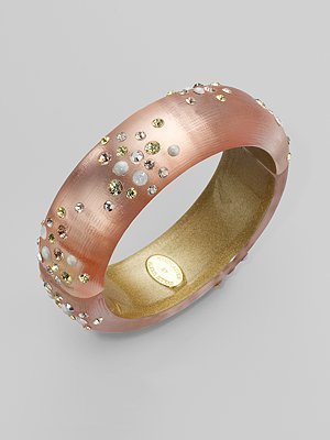 Alexis Bittar Medium Moon Dust Bracelet/Peach