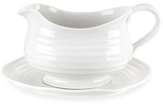 Sophie Conran Portmeirion White Gravy Boat with Stand