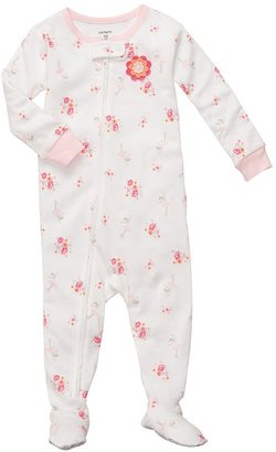 Carter's floral & ballerina footed pajamas - baby