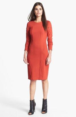 Rachel Roy Cut Sleeve Ponte Dress