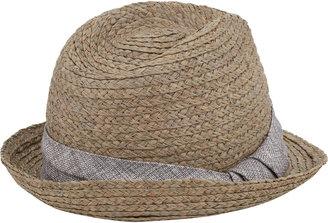 Hat Attack Metallic Linen-Trim Fedora