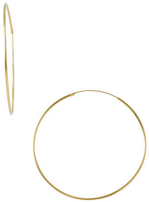 Women's Argento Vivo Endless Extra Large Hoop Earrings $55 thestylecure.com