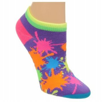 Famous Footwear Women's 6PK PAINT SPLATTER