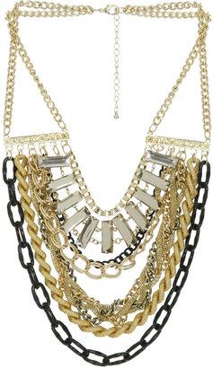 Arden B Chain Stone Statement Necklace
