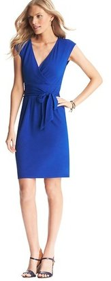 LOFT Tie Waist Cap Sleeve Dress