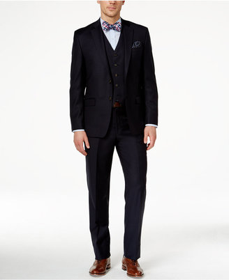 Lauren Ralph Lauren Solid Navy Pure Wool Classic-Fit Vested Suit $695 thestylecure.com