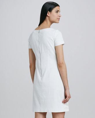Elie Tahari Glenda Linen-Blend Sheath Dress