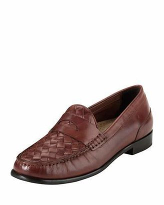 Cole Haan Laurel Woven Leather Moccasin, Sequoia $170 thestylecure.com