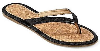 JCPenney Glitter Cork Thong Sandals