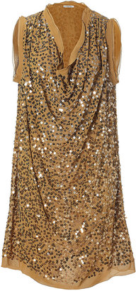 By Malene Birger Palm Green Sequined Dress