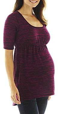JCPenney Maternity Marled Tunic