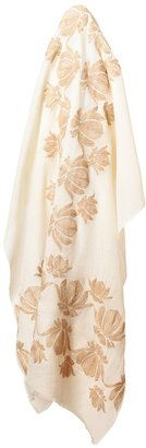 Janavi Floral Embroidered Cashmere Scarf