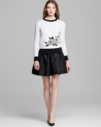 Kate Spade Rose Intarsia Sweater