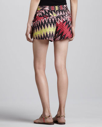 French Connection Zigzag-Print Relaxed Shorts
