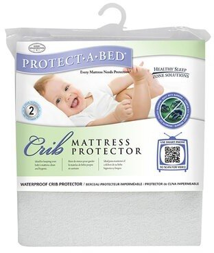 Protect A Bed Protect-A-Bed Premium Fitted Sheet Style Crib Protector Protect-A-Bed