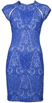 Yigal Azrouel Stretch Paisley Dress