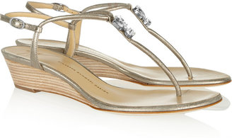 Giuseppe Zanotti Burma embellished metallic leather sandals