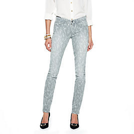 C. Wonder Stretch Skinny Feather Print Jean