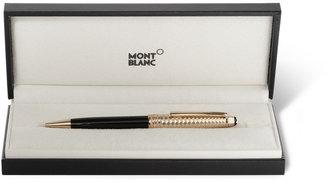 Montblanc Meisterstück Solitaire Doué Geometric Dimension Gold-Plated Ballpoint Pen