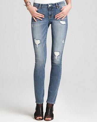 Aqua Jeans - Forever Destructed Skinny Jeans in District Wash